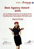 Best Agency Award 2015